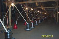 AZA 48 sodronyköteles/korongos felsőpályás behordó rendszer