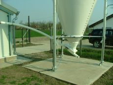 AZA 90 felsőpályás spirálos behordó rendszer 60 m