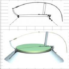 Agritech nyitószerkezet CD1CS üvegszálas fedél nélkül