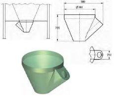 45°-80° dőlésszögű garat kitároló csigához, mod. 37 - siló tartozékként