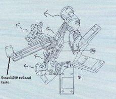 összekötő rudazat tartó ES ventilátor
