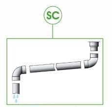 hűtőpanel szerelési egységcsomag - 'SC10' csurgalékvíz visszavezető szerelvények