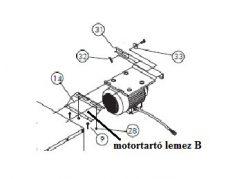 motortartó lemez-B EOS 50