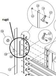 ventilátor zsalu rugó rögzítőelem