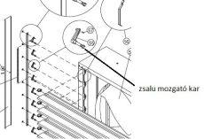 ventilátor zsalu mozgató kar