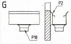lefolyó csatlakozó d=63 mm P18