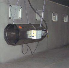 NG-L80 hőlégfúvó 80kW hőteljesítmény