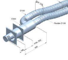 SnookSuperior fali átvezető egység 130/200 mm