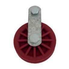 görgő 90 mm, acél/nylon, profil 8 mm, max. terhelhetőség 180 kg