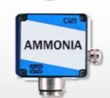 NH3 ammónia érzékelő 0-300 ppm, kimenet (0)4-20 mA/0(2)-10V, 24VDC