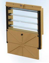 kompakt légbeejtő ablak Omniflux, légterelők elől, csúszózsaluval