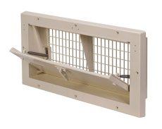 műanyag légbeejtő ablak 2000-PBR-C, egyenes légterelő, központi nyitás, normál nyitás