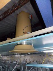 kémény kürtő félhenger d=640 mm, 1 méter
