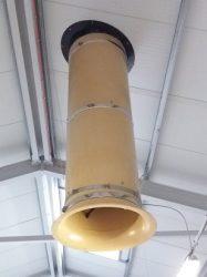 kémény kürtő félhenger d=560 mm, 1 méter