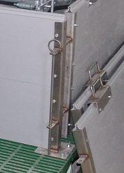 rozsdamentes acél zárópálca 50 cm