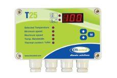 elektromos termosztát 5 x relé + 1 x 0-10V analóg kimenet, digitális kijelző