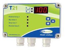 elektromos termosztát 2 x relé kimenet, digitális kijelző, progresszív vagy ciklikus szellőzés vezér