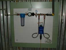 TT-Dosatron központi vízpanel egység, lapra szerelt