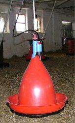Jumbo-T pulykaitató szerelvényekkel (gerinccsatlakozóval, tömlővel, nylon kötél szintállítóval)