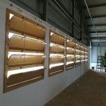 Légbeejtő ablakok és alagút zsaluk, működtető elemek